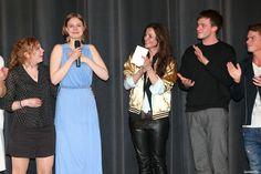 © 2015 Constantin Film Verleih GmbH V.l.n.r.: Amber Bongard, Hanna Binke, Katja von Garnier und Jannis Niewoehner Deutschlandpremiere von Ostwind 2 im Mathäser Kino in München am 03.05.2015