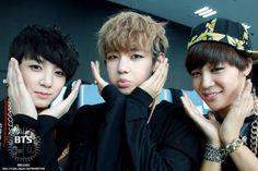 Kookie, V e Jiminie ♥ / BTS