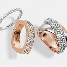 How much shine is your thing?  Whether you're upbeat or offbeat, find the perfect #Swarovski rings for you.