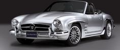 Vintage Mercedes 190 SL fashioned from a BMW Z3 roadster.