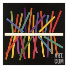 Multicolor Sticks Art Print by Pop Ink - CSA Images at Art.com