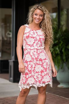 Layer By Layer Dress, Coral - The Mint Julep Boutique