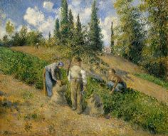 Camille Pissarro - Harvest, Pontoise [1881]   by Gandalf's Gallery