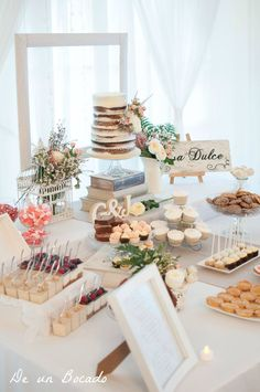 If you aren't a fan of traditional wedding cake or you just can't choose one perfect cake for your wedding, you can choose non-traditional wedding desserts Wedding Candy Table, Wedding Desserts, Wedding Cakes, Wedding Decorations, Table Decorations, Breakfast Food List, Breakfast For Kids, Garden Bridal Showers, Nontraditional Wedding