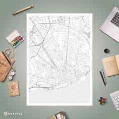 A map poster from Mapiful.com. A creative DIY tool to make your own map poster. This is ''