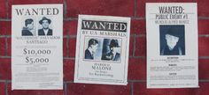 "speakeasy decorations | Create ""WANTED"" posters for felons coming to the party - Southside ..."