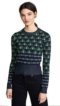 Carven Graphic Print Sweater