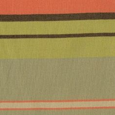 Sunbrella 40290-0000 Army Green/Brown Horizontal Striped Indoor/Outdoor Upholstery Fabric