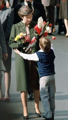 The Queen is greeted by a fan in Toronto, Ontario Canada. 1984
