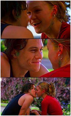 Heath Ledger (Patrick Verona) & Julia Stiles (Kat Stratford) - 10 Things I Hate About You (1999) #williamshakespeare #thetamingoftheshrew