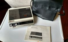 Vtg Sony Cassette Recorder TC-70 with carry case Repair or PARTS ONLY #Sony
