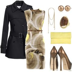 Yellow and Gold, created by jill-hammel on Polyvore