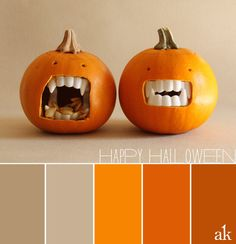 """a pumpkin-inspired color palette // orange, tan, beige // Happy Halloween! Forget the palette! I want to carve pumpkins like that for Holloween! Color Combos, Color Schemes, Halloween Gingerbread House, Chic Halloween, Happy Halloween, Pumpkin Colors, Color Balance, Design Seeds, Halloween Coloring"