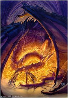Smaug the dragon by John Howe