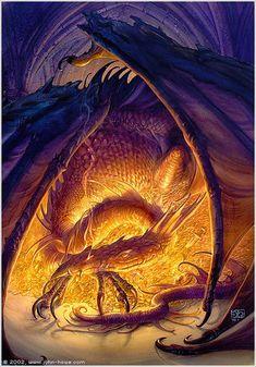 Smaug the dragon by John Howe