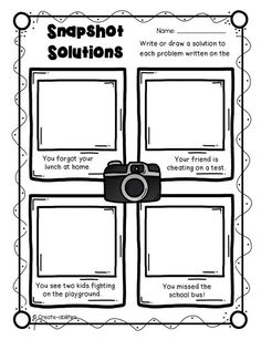 Problems and Solutions Anchor Chart and Free Graphic