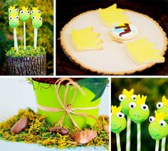 Frog Prince Baby Shower by Cherished Affairs #babyshower #frogprince #babyboy #cakepops #cookies