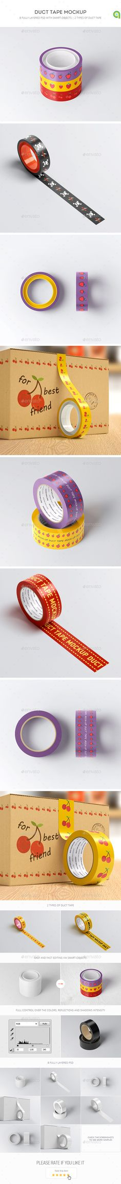 Duct Tape Mock-up. Download here: https://graphicriver.net/item/duct-tape-mockup/17375525?ref=ksioks