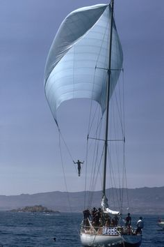 Spinnaker Sailing did this when I was young not for the timed and not good for your health!!
