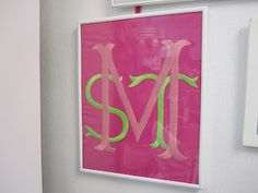 MONOGRAM--It will not work with the large letter as an I, L, T or J...They are too narrow. :(