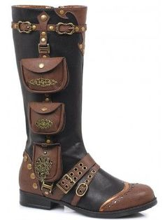 89a8ae65bdbf Silas Multi Pocket Steampunk Womens Boots