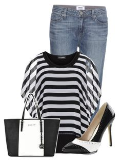 Untitled #7859 by nanette-253 on Polyvore featuring polyvore fashion style Doris Streich Paige Denim MICHAEL Michael Kors clothing