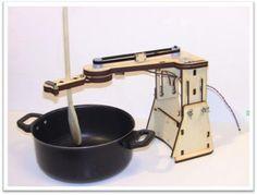 Arduino-controlled automatic pot stirrer by Ben Heckendorn
