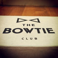 bowtie on a closed box.
