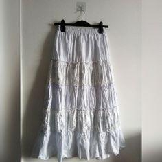 2435e2bf4a BABY BLUE GYPSY SKIRT • Baby blue gypsy skirt, hand made - Depop Gypsy Skirt