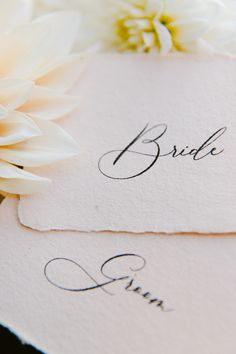 Calligraphy name cards on handmade paper, with deckled edges, for your day-of wedding stationery by PAPIRA / / © PAPIRA Wedding Stationery // PAPIRA invitatii de nunta personalizate si sigilii de ceara Letterpress Wedding Invitations, Wedding Invitation Suite, Wedding Stationery, Wedding Shoot, Our Wedding, Calligraphy Name, Name Cards, Wedding Paper, Dried Flowers