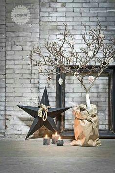 Scaapi : Scaapi Natural christmas - Handmade birch wood and wool christmas ornaments Natural Christmas, Christmas Mood, Noel Christmas, Beautiful Christmas, Handmade Christmas, Christmas Ideas, Christmas Candles, Simple Christmas, Christmas Ornaments