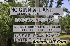 #lakeswi McGinnis Lake is located in Adams County Wisconsin here you can find Info, Maps, Photos, Aerial Images plus Area Information like nearby Lakes, Public Land, Townships and communities. #adamscountywi