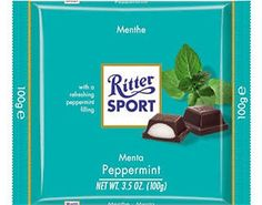 -in USA- Ritter Sport - Peppermint - chocolate bar with filling I Love Chocolate, Favorite Candy, Bavaria Germany, Peppermint, Sweets, Fun, Delicious Recipes, Healthy Recipes, Interesting Stuff