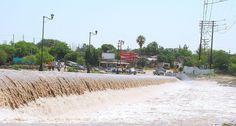 Creciente en el Río Sabinas, Coahuila
