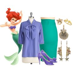 Ariel wears ModCloth, created by talitademoraes on Polyvore. I LOVE THIS!!!!!!!!