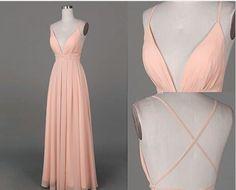 Sexy Prom Dress,Chiffon Backless Bridesmaid Dress,Long Prom Dresses by fancygirldress, $125.00 USD