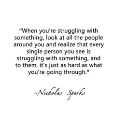 Have to remember this everyday. In the end,  everything will be alright!