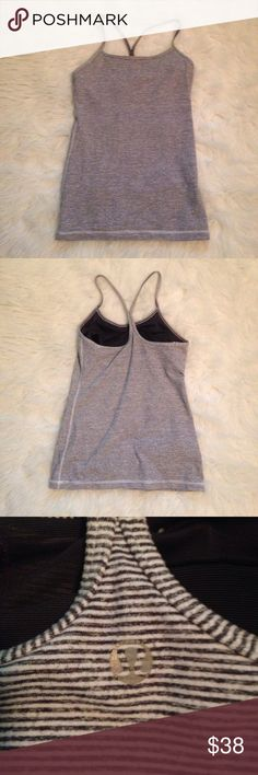 Lululemon power y tank Perfect condition power y tank size 4 built in sports bra. lululemon athletica Tops Tank Tops