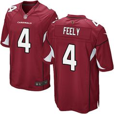 limited jay feely youth jersey arizona cardinals 4 home red nike nfl