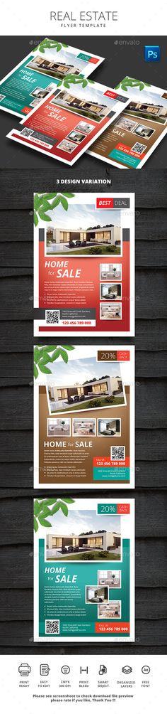 Real Estate Flyer Template PSD. Download here: https://graphicriver.net/item/real-estate/17548151?ref=ksioks