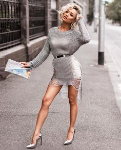 Silver slay Knit tunic from @hotmiamistyles ⛓