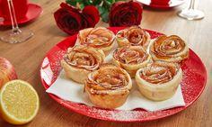 """Der Valentinstag steht vor der Tür und """"Mann"""" überlegt schon seit Tagen, welche kleine Aufmerksamkeit erdieses Jahr schenken soll. Rote Rosen sind ja der Inbegriff für Liebe und Valentinstag, aber jedes Jahr das Gleiche, ist ja auch eher langweilig. Was haltet ihr dieses Jahr von leckeren Rosen aus Blätterteig und Äpfeln? Man sagt ja, die …"""