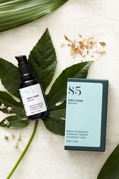 Styled product photography UK. Soft lighting, foliage, ingredients, leaves, skincare packaging. This image is copyright of Sally Williams Photography © 2021 all rights reserved. Skincare Packaging, Photography Uk, Product Photography, East Sussex, Sally, Skin Care, Creative, Leaves, Lighting