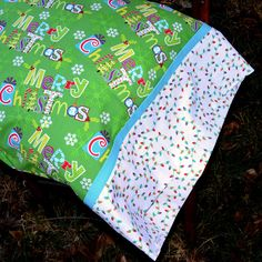 MERRY CHRISTMAS LIGHTS Standard Pillowcase for boy by tinystitches