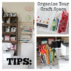DIY Tips to help you Organize your Craft Space or Sewing Room via @joannstores