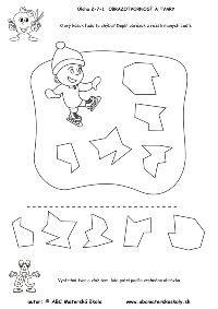 Zimné športy - Diery v ľade - puzzle - pracovný list z ABA