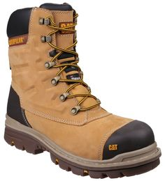 94246bc5df CAT Caterpillar Premier Honey Waterproof Safety Mens Industrial Work Boots