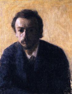 Vilhelm Hammershøi (Danemark, 1864-1916) – Autoportrait (1891) Collection privée