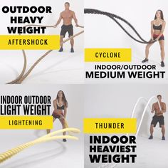 Muscle Ropes is best in class and has a battle rope for everyone, at every level, anywhere - light and heavy weight, indoor and outdoor, at home or in the gym. Find the best battle rope for you. Shop online! http://muscleropes.com/why-muscle-ropes/