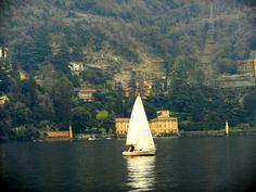 Sailing in Lake Como